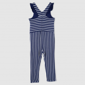 4d96447d0dc Striped Sleeveless Jumpsuit with Frills