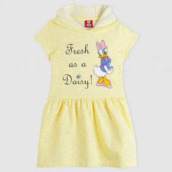 Daisy Duck Printed Short Sleeves Dress
