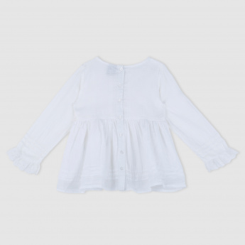 Frill Detail Long Sleeves Top