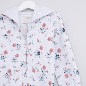 Floral Printed Long Sleeves Jacket