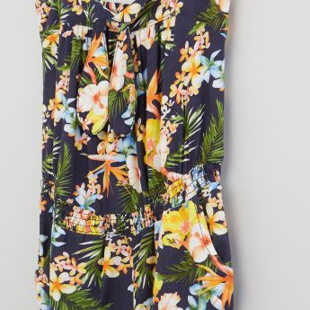Floral Printed Full Length Jumpsuit