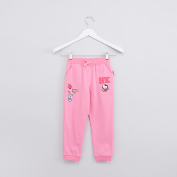 Hello Kitty Embroidered Jog Pants with Elasticised Waistband