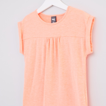 Round Neck Extended Sleeves Top