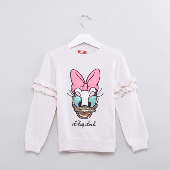 Daisy Duck Sequin Detail Sweater