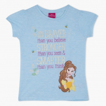 Belle Princess Printed Round Neck T-Shirt