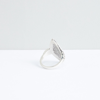 Metallic Ring with Stud Detail