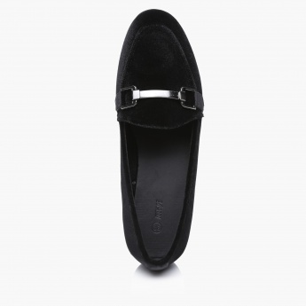 Slip-On Shoes with Metallic Detailing
