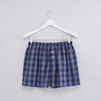 Chequered Boxer Brief with Elasticised Waistband - Set of 2