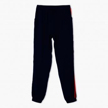 Full Length Jog Pants with Side Piping