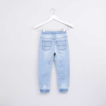 Pocket Detail Jeans with Elasticised Hem and Drawstring