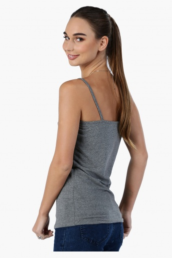 Camisole with Spaghetti Straps and Lace Detail
