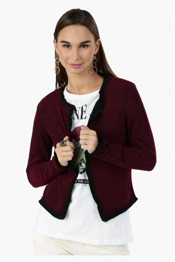 Long Sleeves Jacket with Open Front