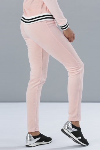 Full Length Jog Pants with Ribbed Border