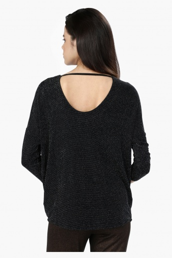 3/4 Sleeves Top with with Round Neck
