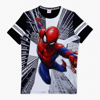 Spider-Man Printed Round Neck T-Shirt