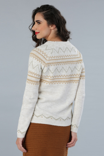 Woven Sweater with Long Sleeves