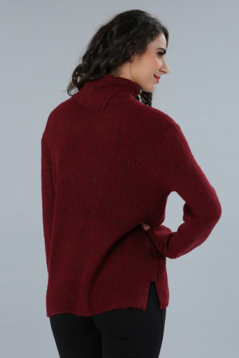Roll Neck Long Sleeves Sweater