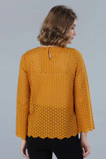 Lace Top with Long Sleeves