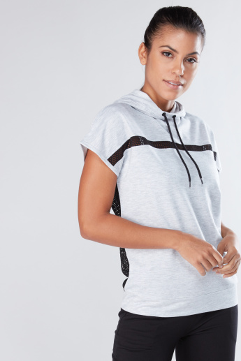 Mesh Detail Top with Hood