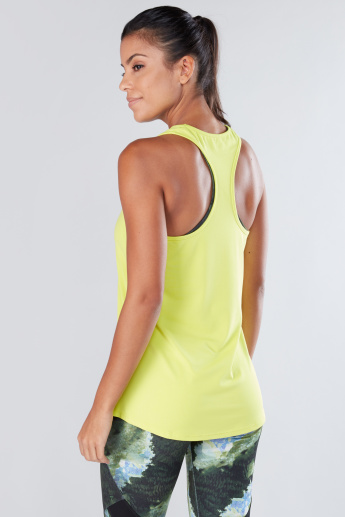 Sleeveless Vest with Scoop Neck and Racerback
