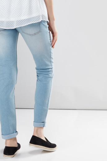 Maternity Full Length Jeans with Pocket Detail