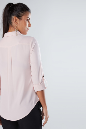 Long Sleeves Shirt with Concealed Complete Placket