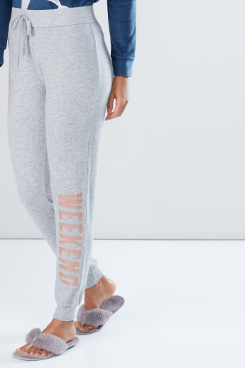Printed Jog Pants with Elasticised Waistband
