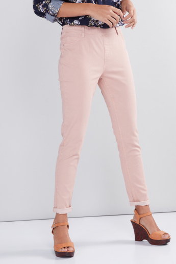 413cb350dafcc Full Length Jeggings with Elasticised Waistband and Pocket Detail ...