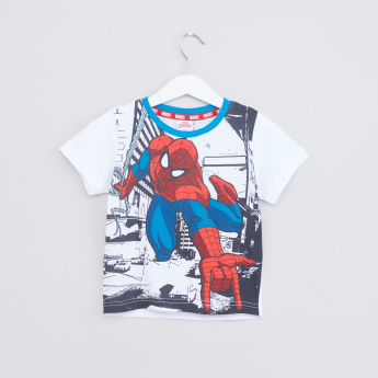 Spider-Man Printed T-Shirt with Jog Pants