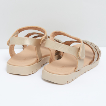 Dual Strap Sandals with Hook and Loop Closure