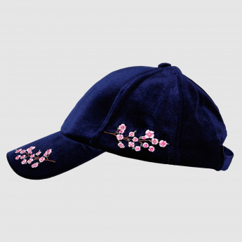 Embroidered Cap with Buckle Closure