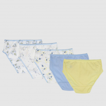 Assorted Briefs with Elasticised Waistband - Set of 5