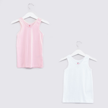 Round Neck Sleeveless T-Shirt - Set of 2