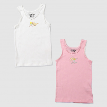 Lola Bunny Print Sleeveless T-Shirt with Bow Applique
